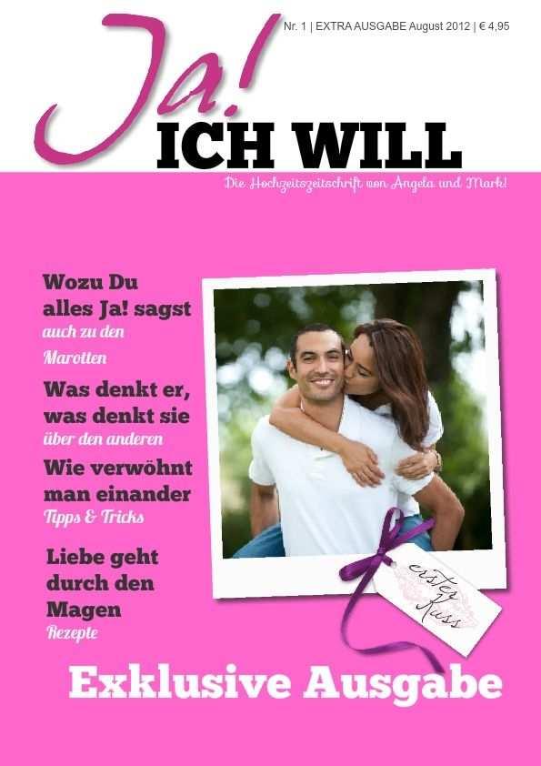 Hochzeitszeitung Vorlage Im Editor Benutzen Jilster
