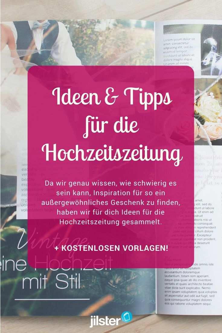 Fur Die Hochzeitszeitung Ideen Tipps Inspiration Jilster