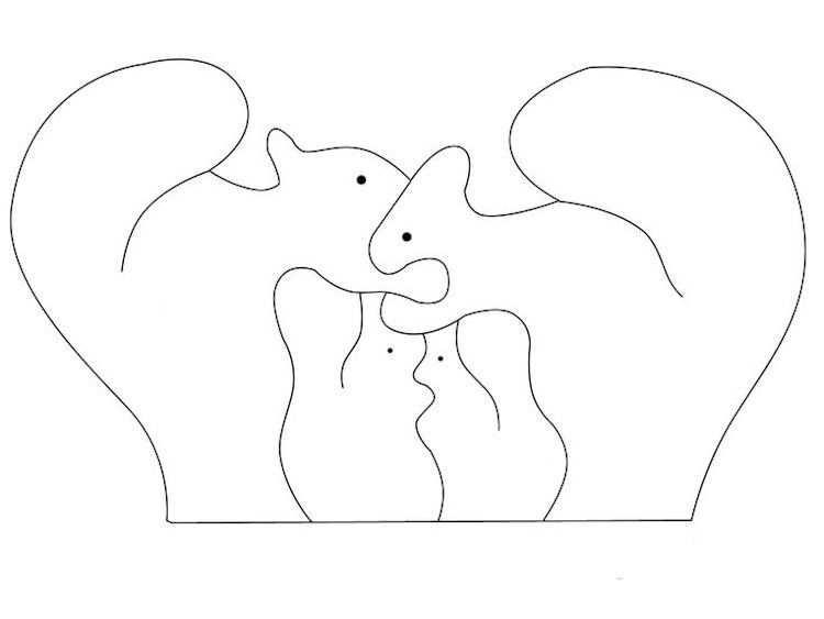60 Dekupiersage Vorlagen Fur Puzzles Tiere Download Kostenlos