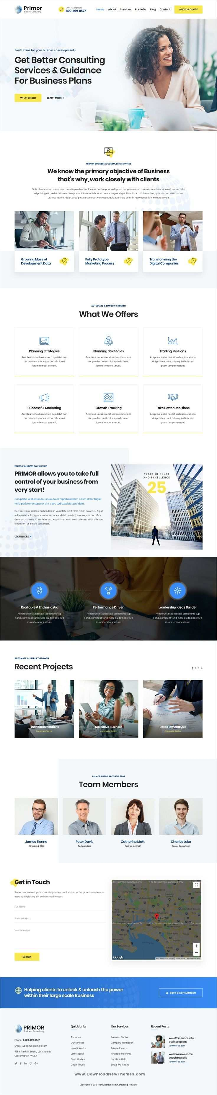 Primor Is A Clean Elegant And Modern Design 5in1 Responsive