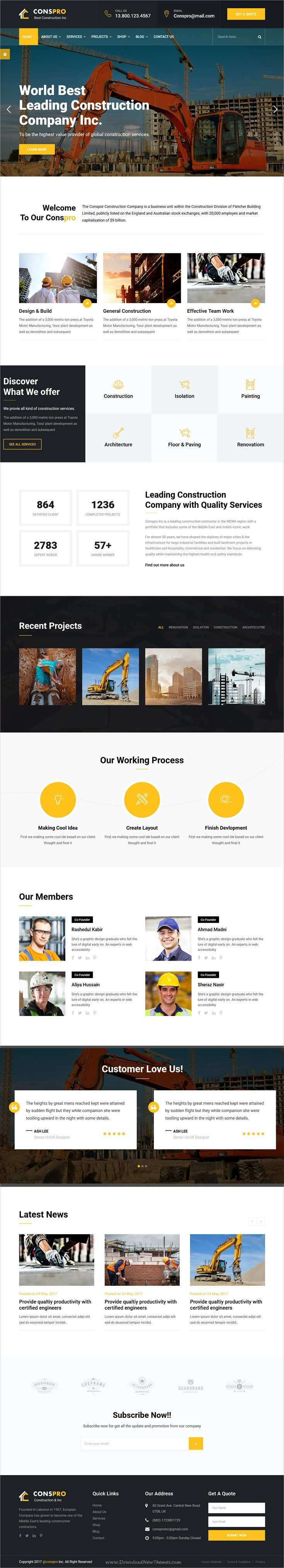 Conspro Construction And Builder Html Template Web Design