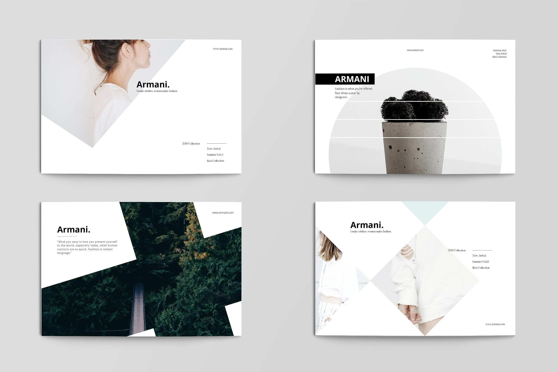 Armani Postcard Print Design Template Postcard Template Postcard