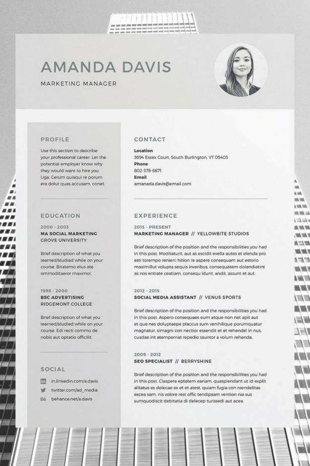 Indesign Lebenslauf Vorlage Schon 23 Average Adobe Indesign Resume