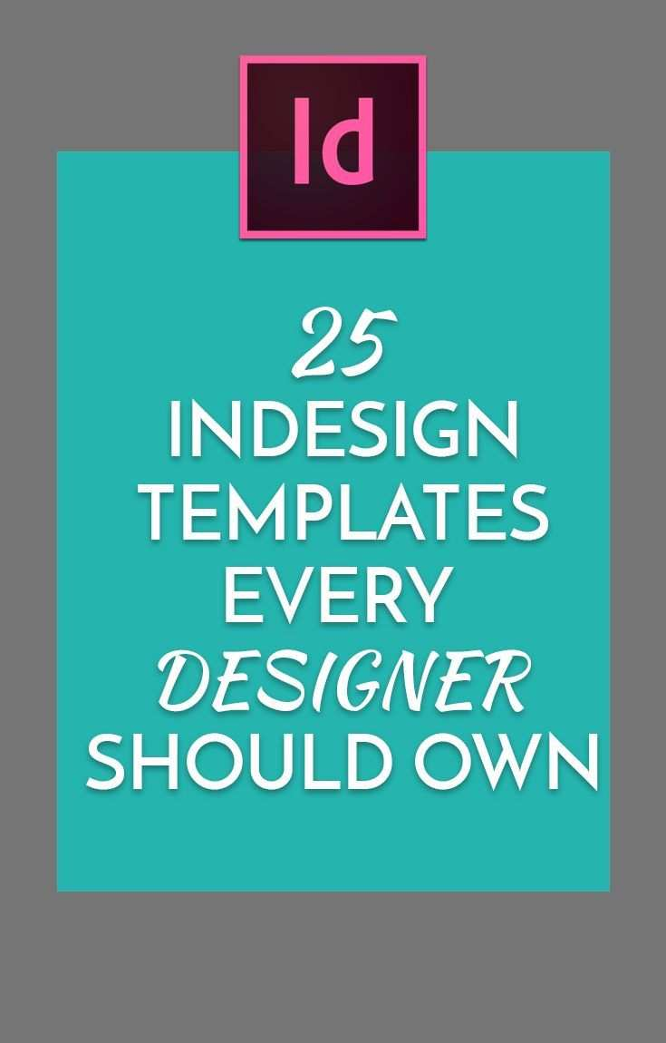 Indesign Templates Every Designer Should Own Skola Teorie