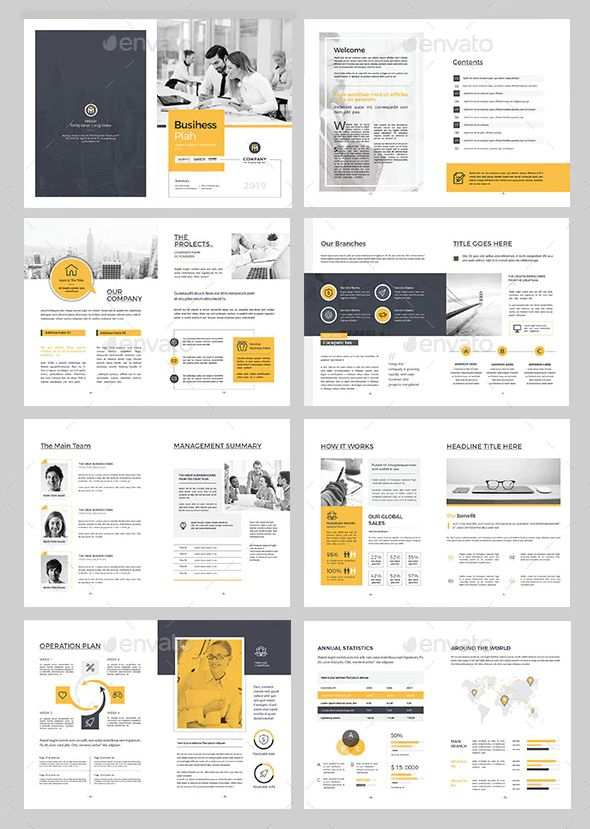 Business Plan Brochure Template Indesign Indd Proposal Brochure