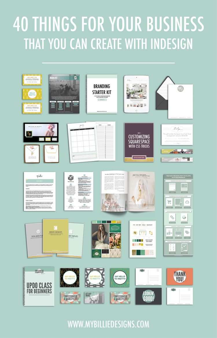 40 Things You Can Create For Your Business With Indesign Design