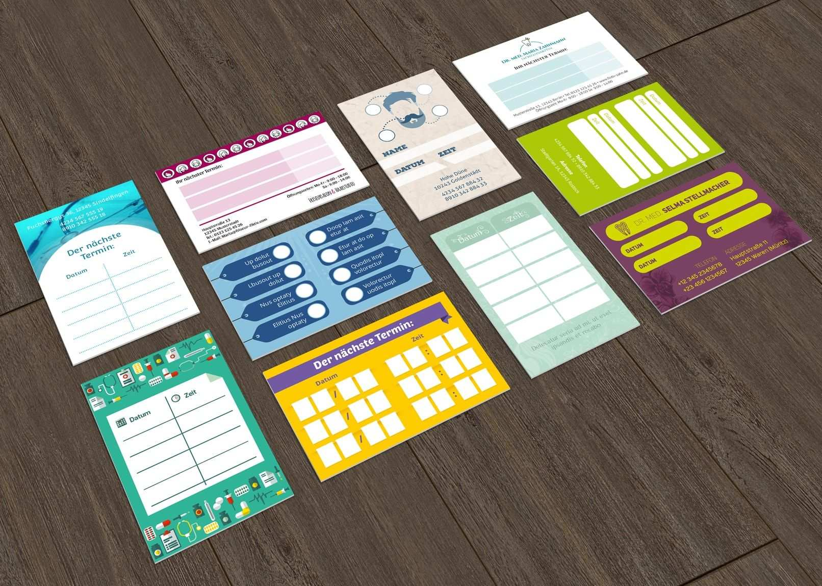 Vorlagen Stempelkarten Terminkarten Bonuskarten Erstellen