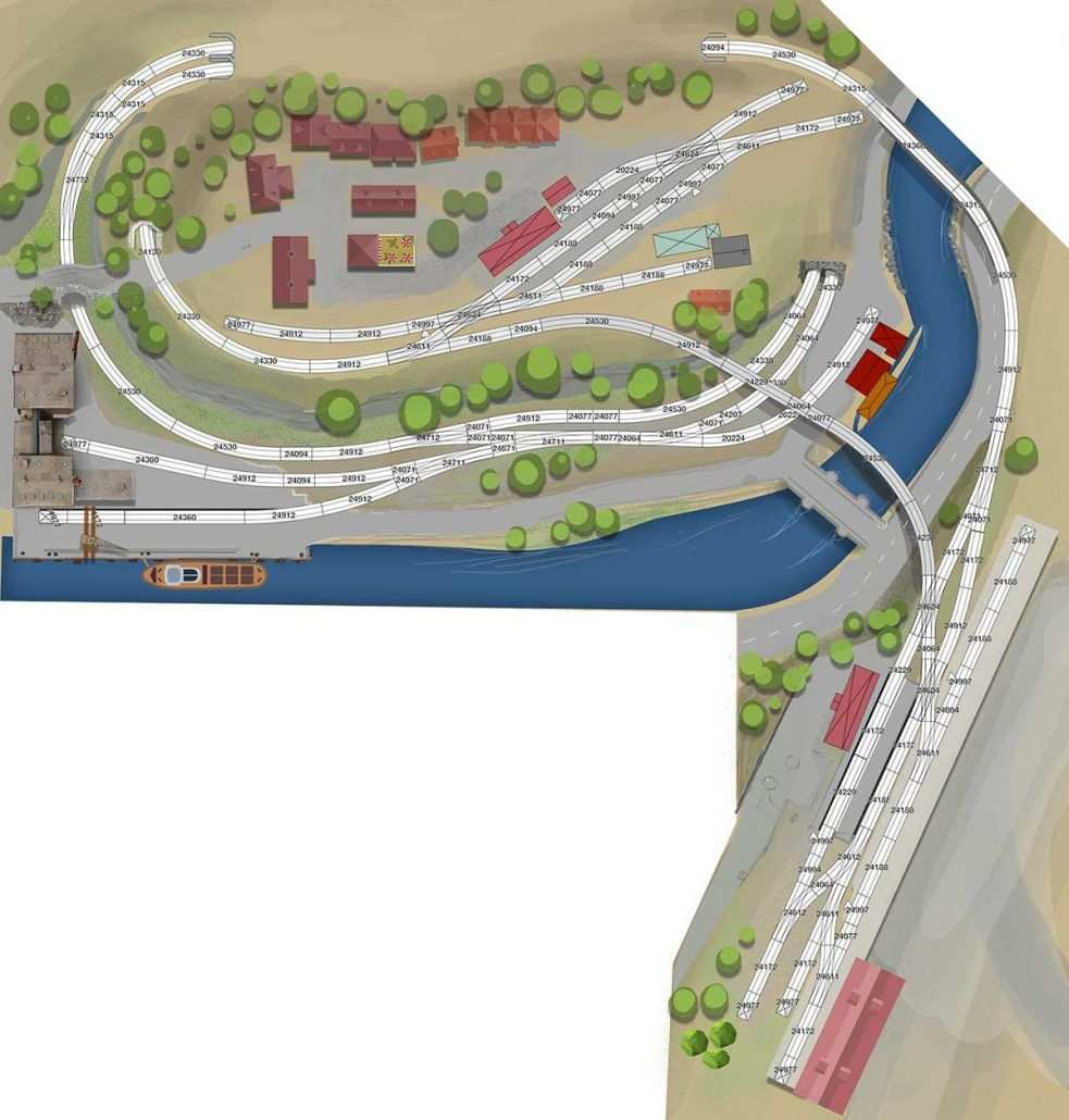 H0 Gleisplan Mit Dem C Gleis Leben Und Arbeiten Am Fluss Trein