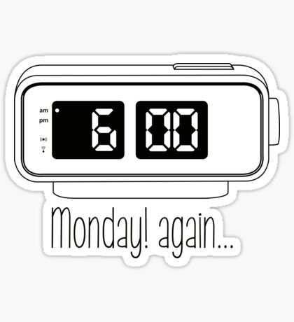 Monday Again Red Digit Sticker Diseno De Pegatina
