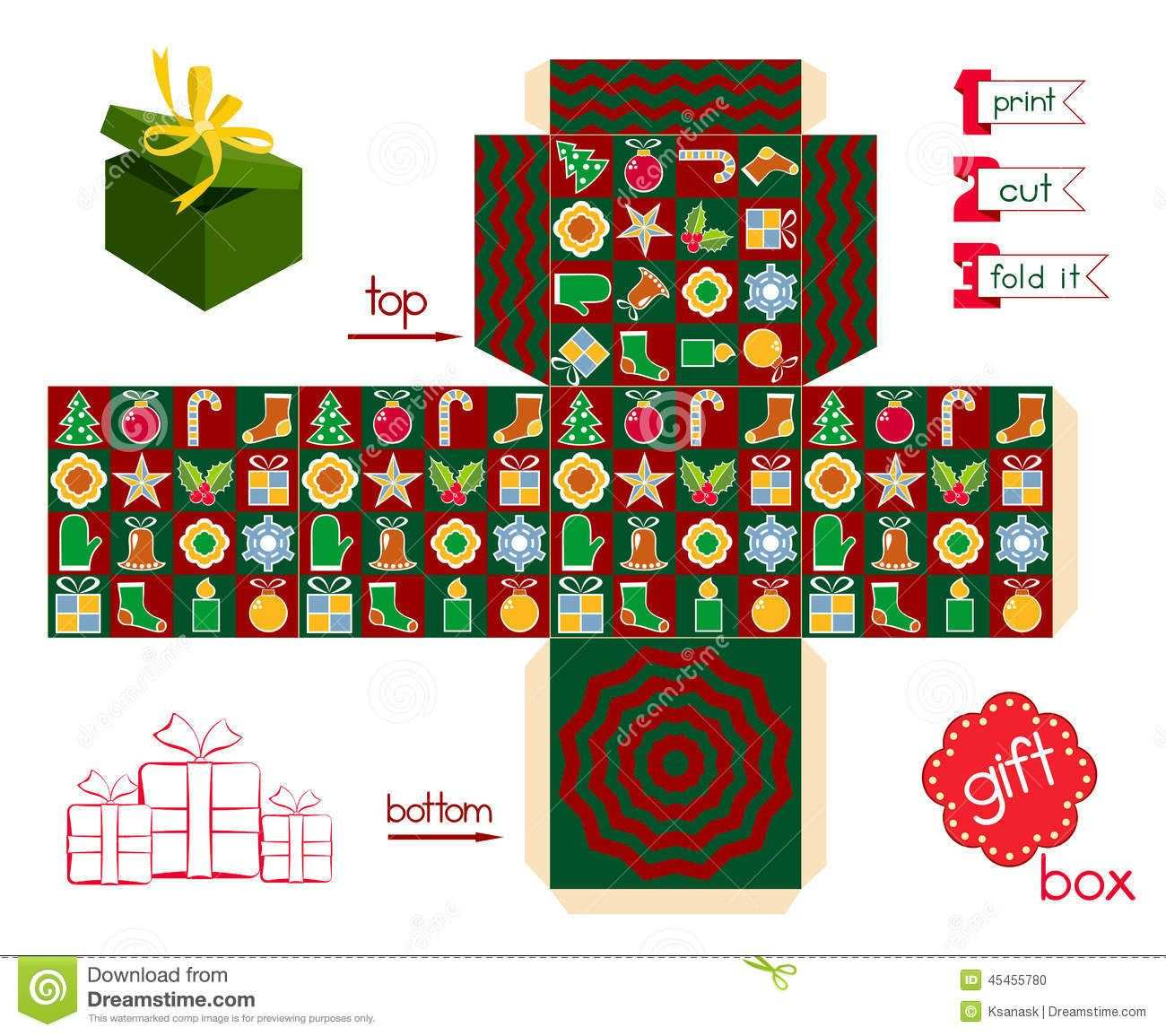Image Result For Printable Cookie Box Template Puppenhaus