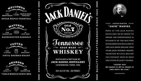 Jack Daniel S Tennessee Whiskey Jack Daniels Label Jack