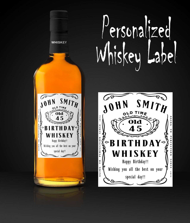 Jack Daniels Etikett Vorlage