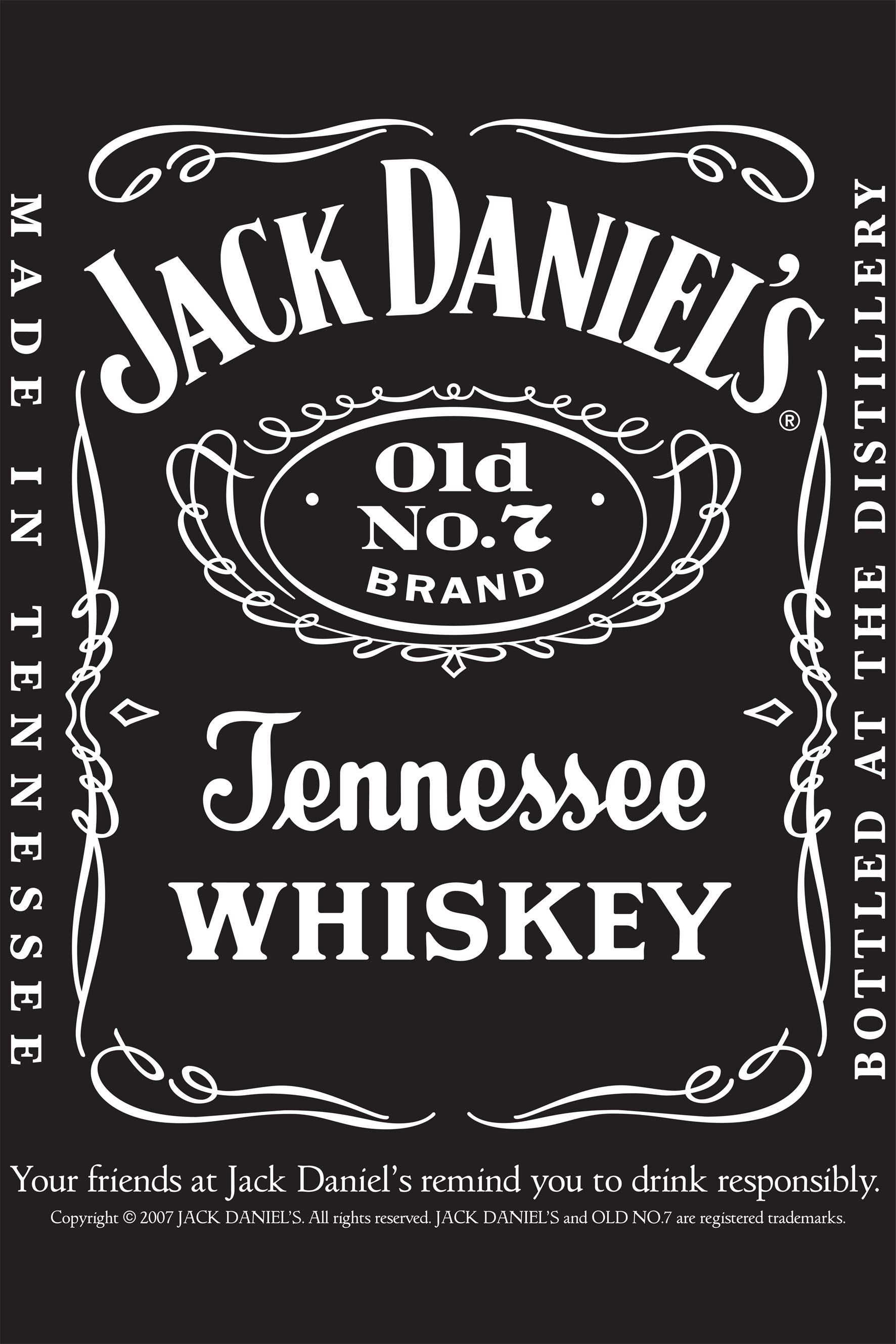 Jack Daniels Vintage Label Whiskey Antique Design Jack