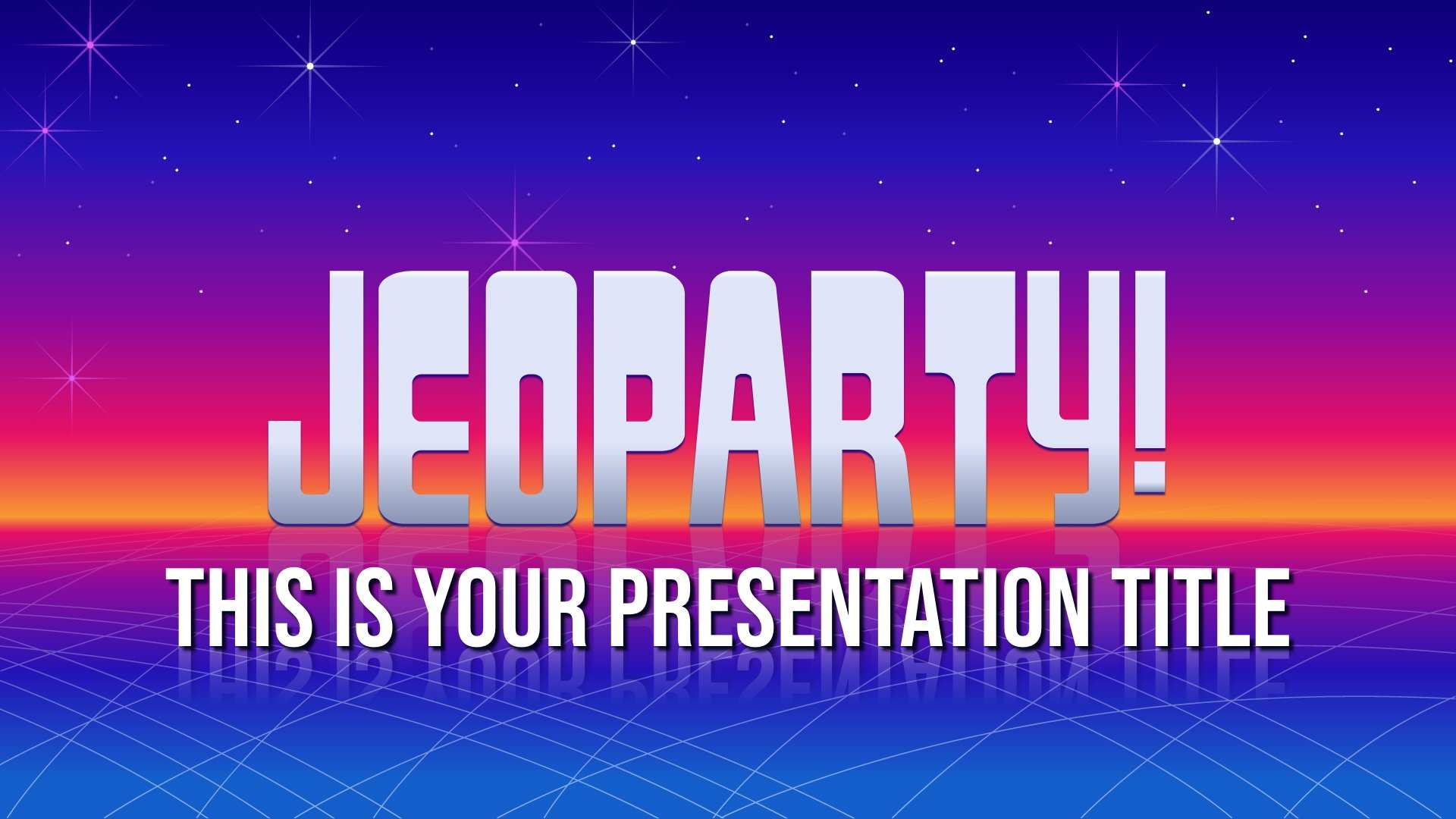 Interactive Jeopardy Free Powerpoint Template Google Slides Theme