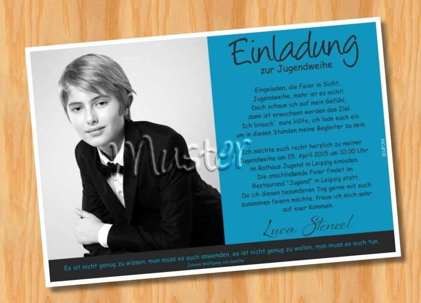 Einladung Einladungskarten Jugendweihe Muster 22 Mit Bildern