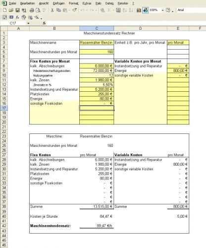 Maschinenstundensatz 1 Jpg Buchfuhrung Rechnungswesen Rechnen
