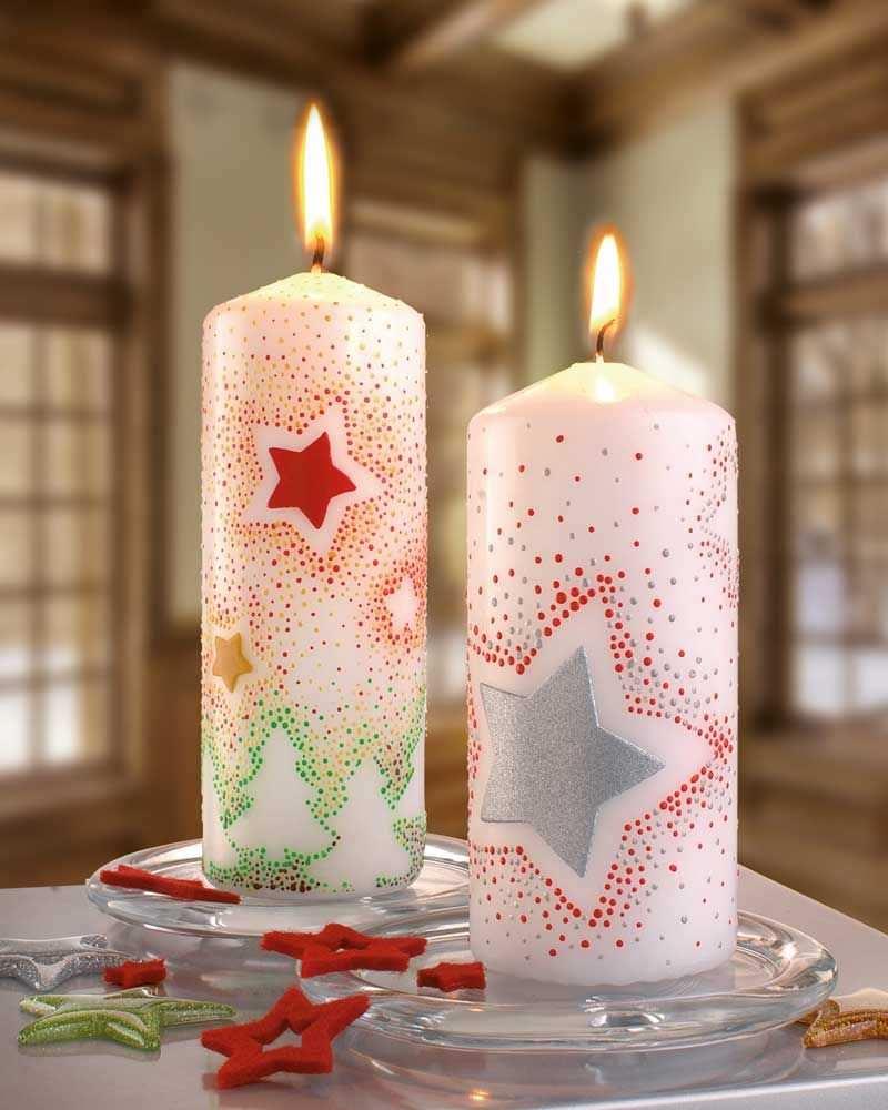 Kerzen Mit Sternen Idee Mit Anleitung Klick Auf Besuchen