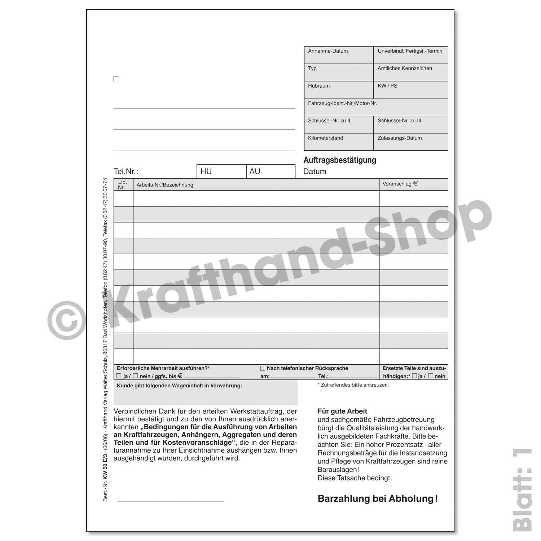 Krafthand Werkstattauftrag Online Kaufen