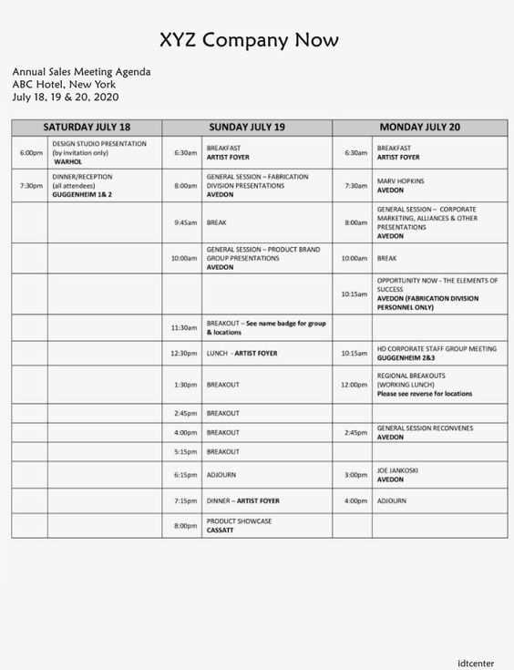 Sample Sales Meeting Agenda Template In 2020 Meeting Agenda
