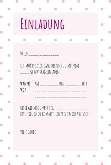 Einladung Zum Kindergeburtstag Vorlage In 2020 Einladungskarten