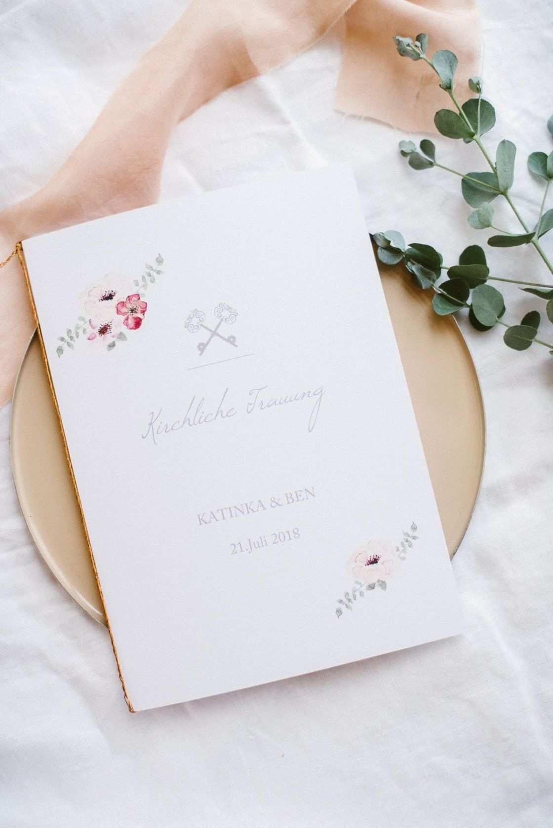 Kirchenheft Zur Hochzeit Selbst Gestalten Kirchenheft Hochzeit