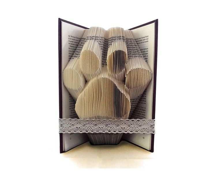 Gefaltet Buch Hunde Pfote Von Folded Book Art Auf Dawanda Com