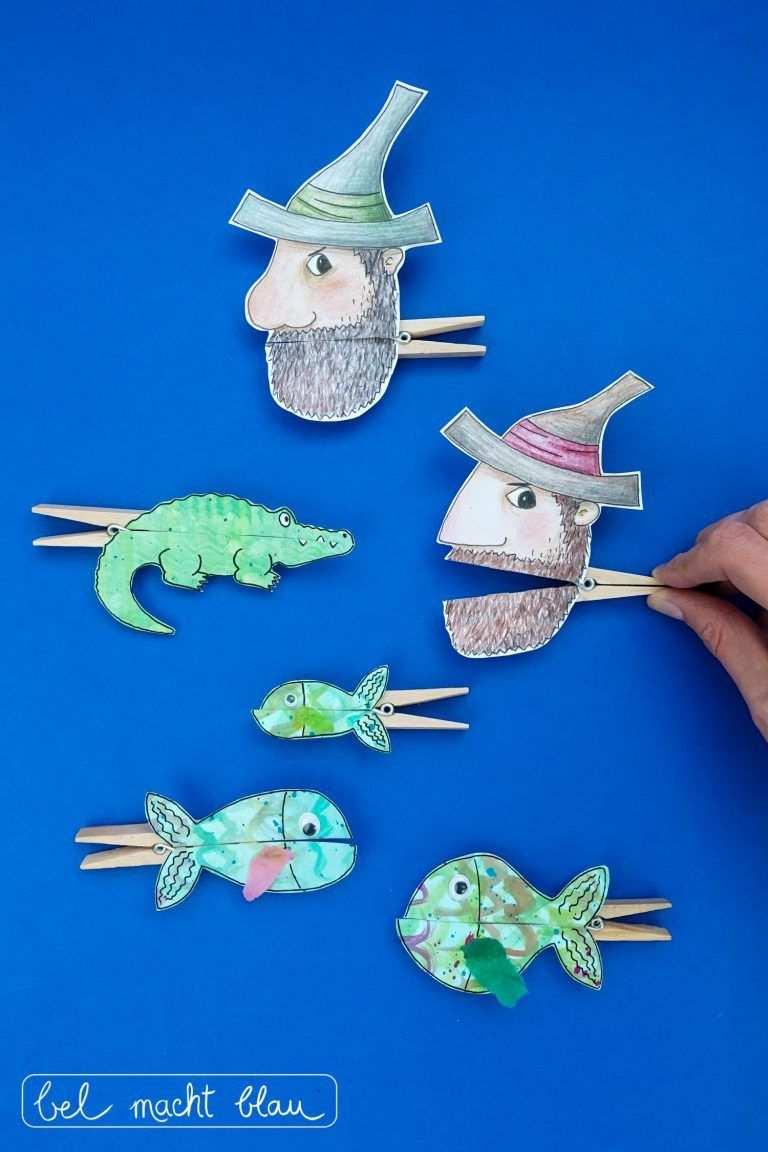 Unsere Liebsten Tischspruche Und Lustige Klammerfiguren Fische
