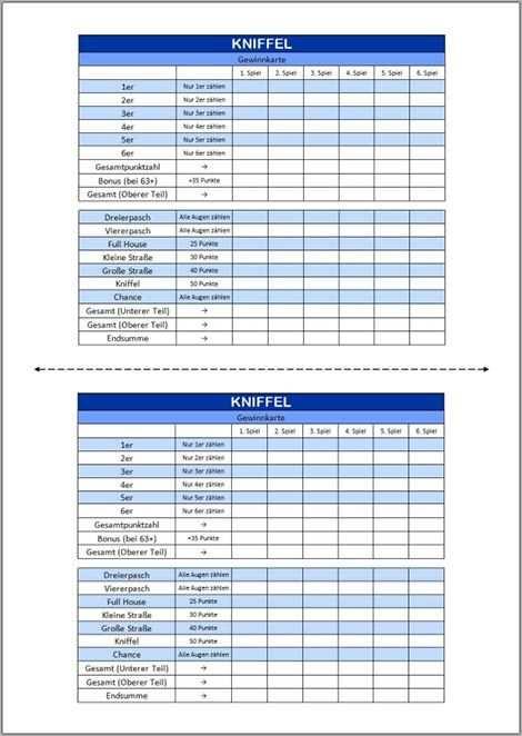 Kniffel Vorlage Excel Pdf Kniffel Vorlagen Ausdrucken
