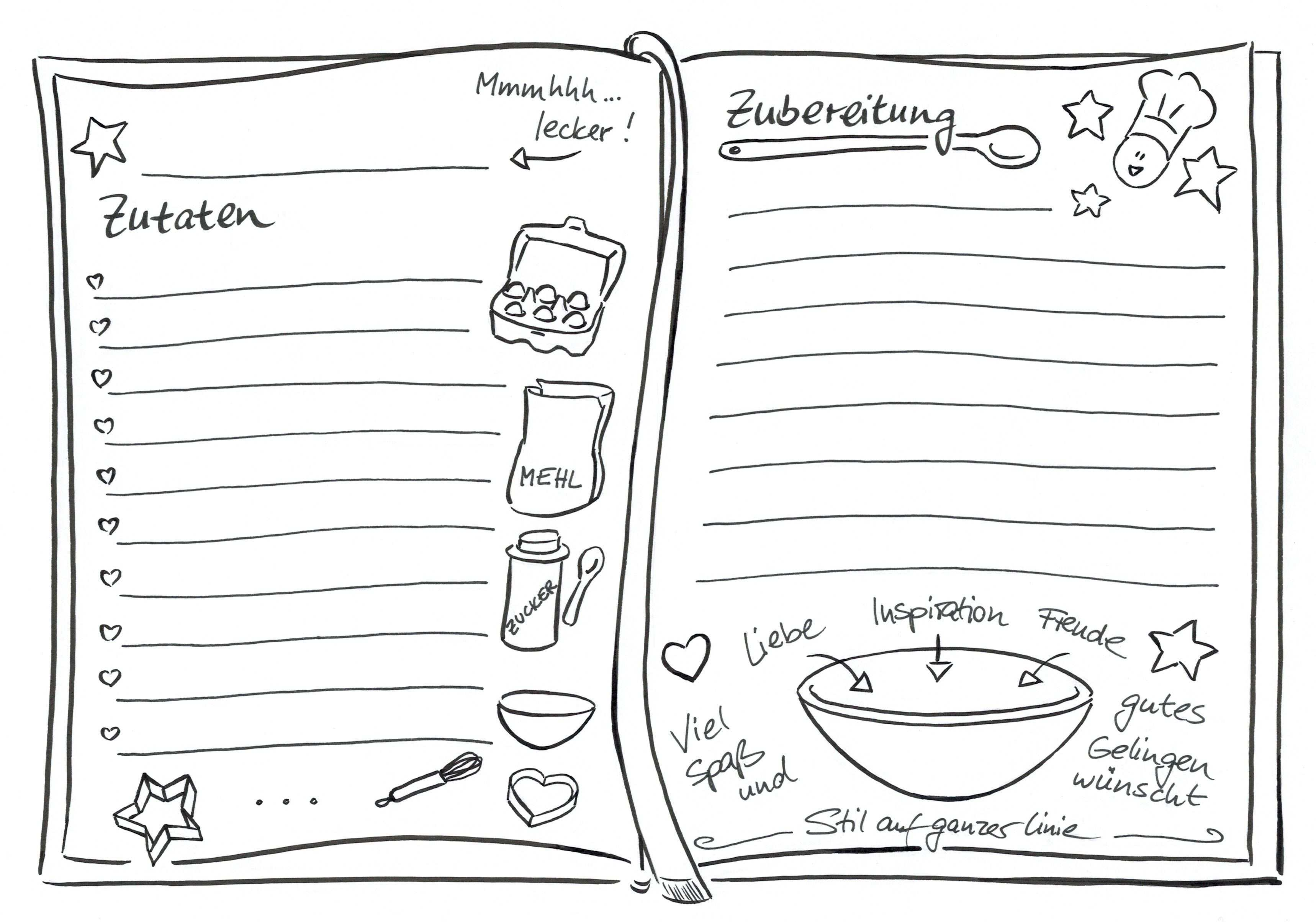 Sketchnotes Sketchnotes Rezepte Kochbuch Selbst Gestalten