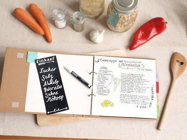 Diy Kochbuch Mit Tafelfolie Und Handletterin Kochbuch Selbst