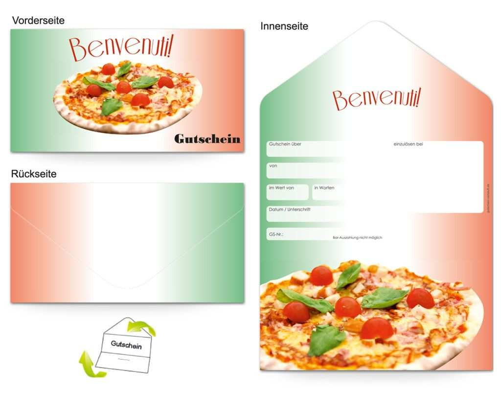 Gutschein Gastronomie Pizzabacker Gutscheine Gutschein