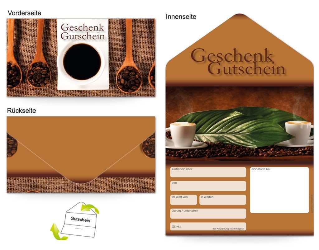 Gutschein Gastronomie Kaffeegenuss Gutschein Geschenke