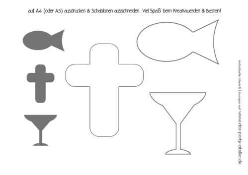Gratis Download Schablonen Kommunion Taufe Konfirmation