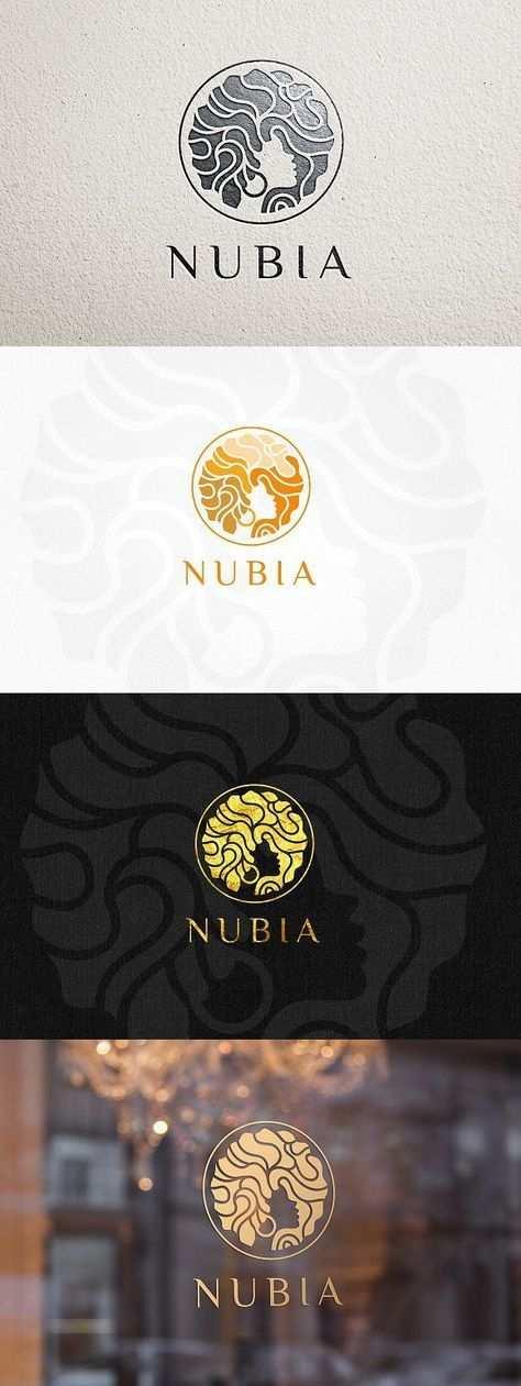 Nubia Haar Logo Vorlage Logo Vorlagen Hairsalon Salon Logo