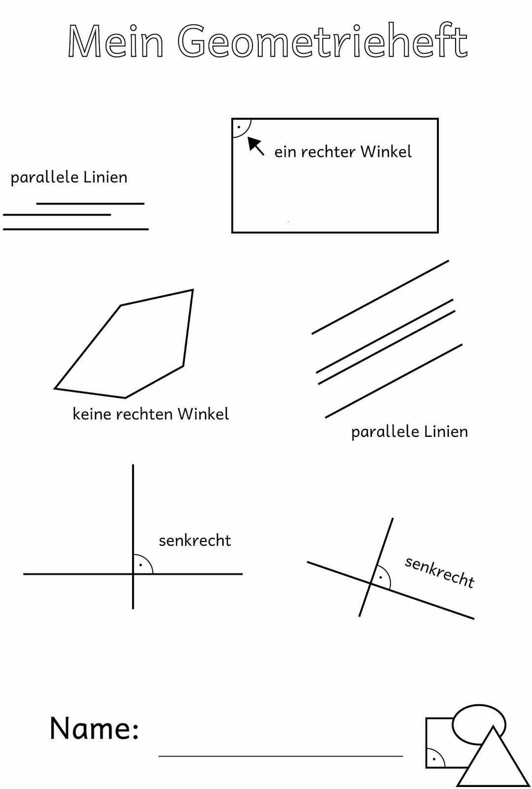 Parallel Senkrecht Und Der Rechte Winkel Mathematikunterricht