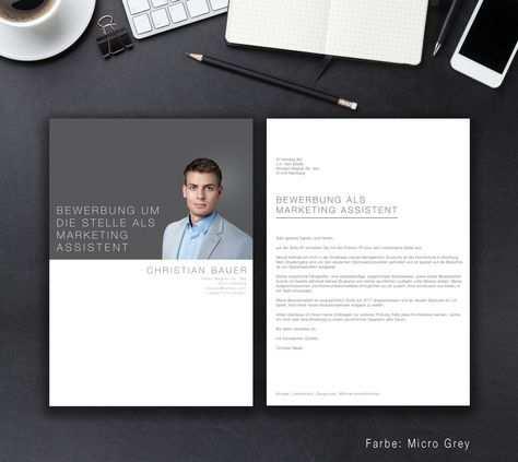 Unsere Bewerbungsvorlage Business Classic In Der Farbe Micro