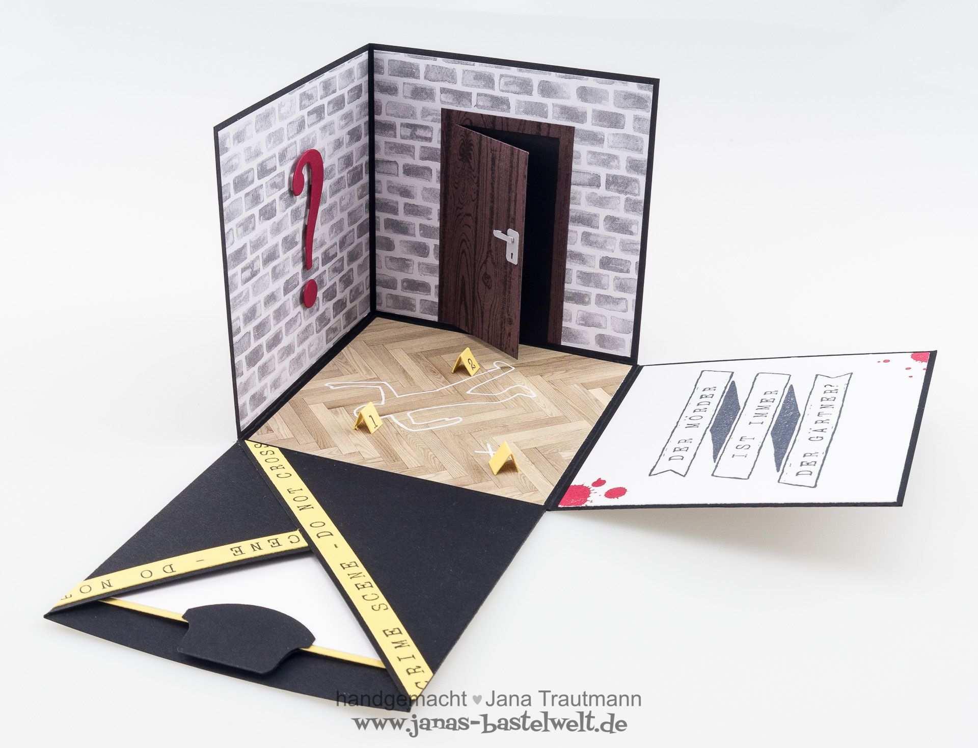 Krimi Explosionsbox Explosionsbox Gutschein Basteln