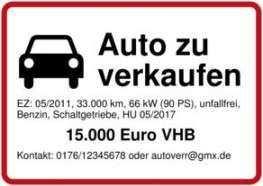 Einzigartig Vorlage Verkaufsschild Auto Kostenlos Verkaufsschild