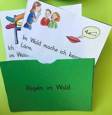 Lapbook Zum Thema Wald Mit Lapbook Vorlage Lapbook Vorlagen