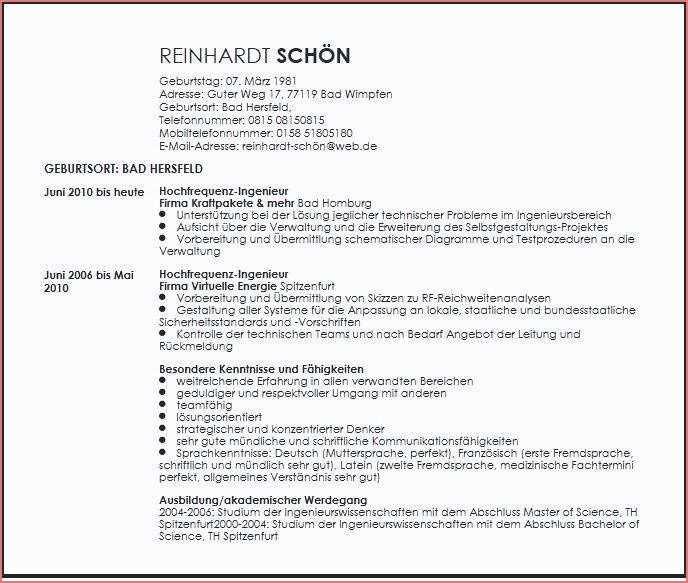 12 Schon Handschriftlicher Lebenslauf Jura Stock Di 2020
