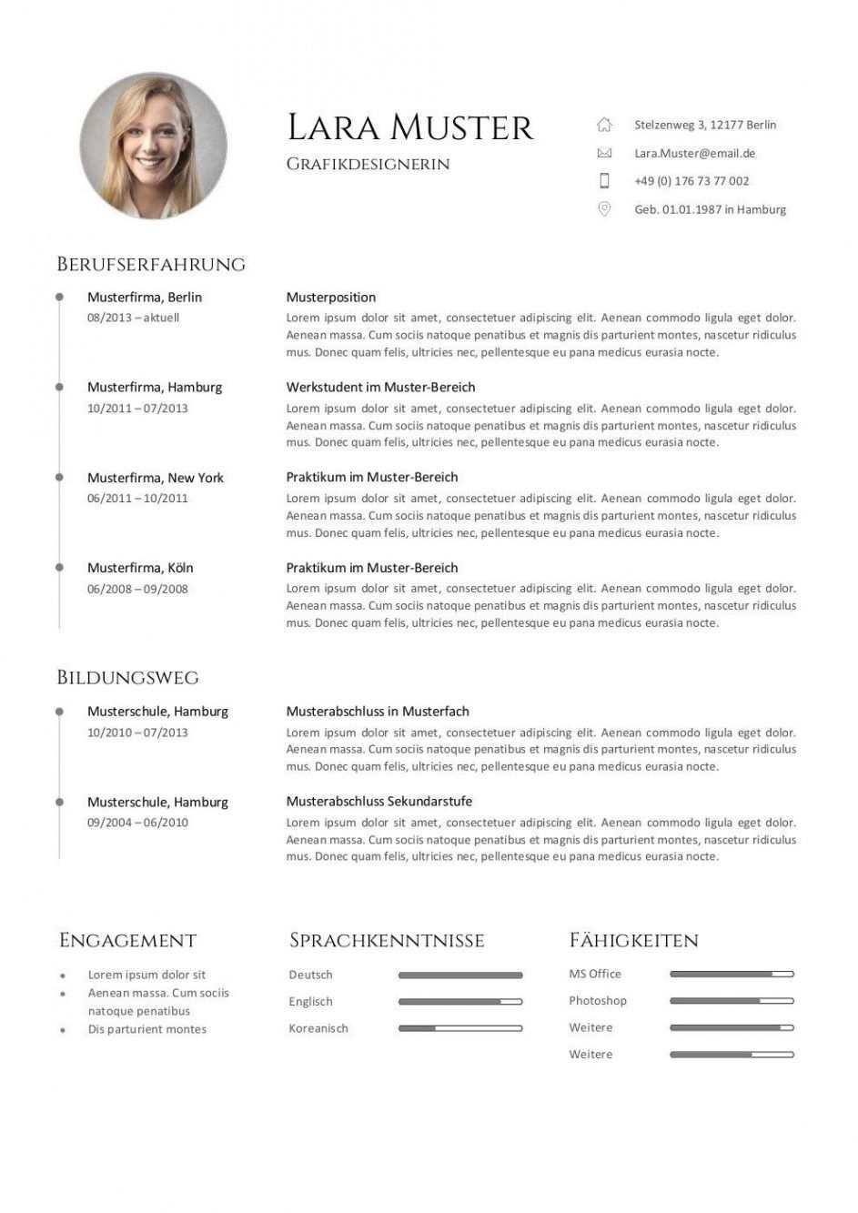 Pages Vorlage Lebenslauf Englisch In 2020 Mit Bildern