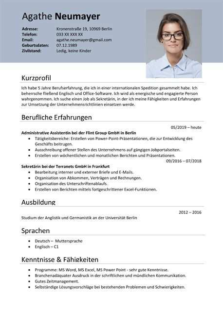 Inspiring German Resume Template Ideas Lebenslauf Lebenslauf