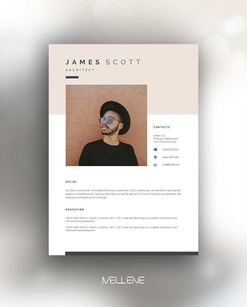 Resume Template 5 Page Cv Template Cover Letter Instant