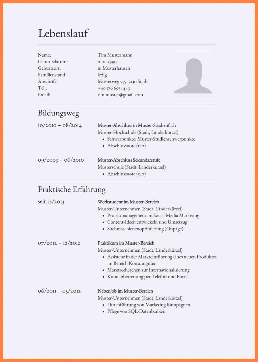 Lebenslauf Vorlage Zeilenabstande In 2020 Lebenslauf Vorlagen