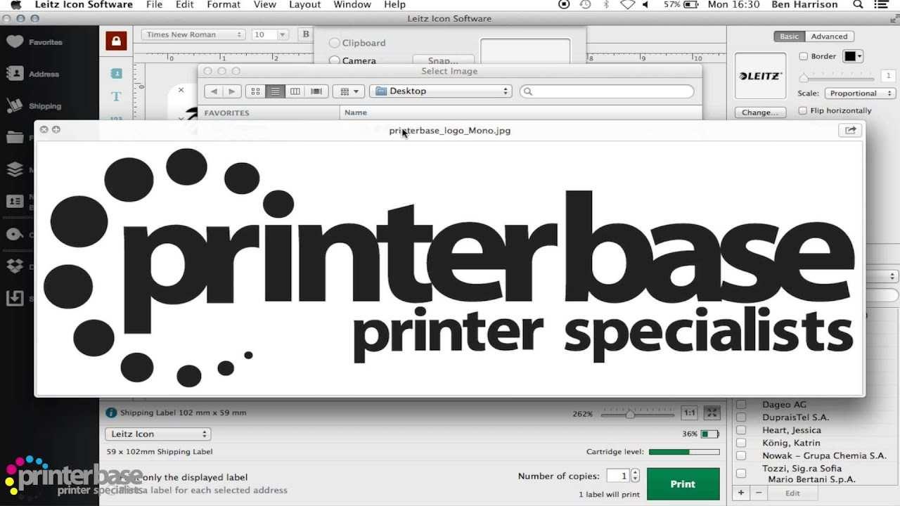Leitz Icon Label Printer Software Demo Youtube