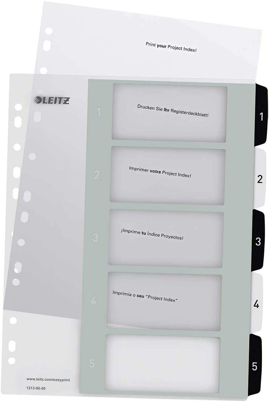 Amazon Com Leitz Wow Printable Index Extra Wide 1 5 Numbered
