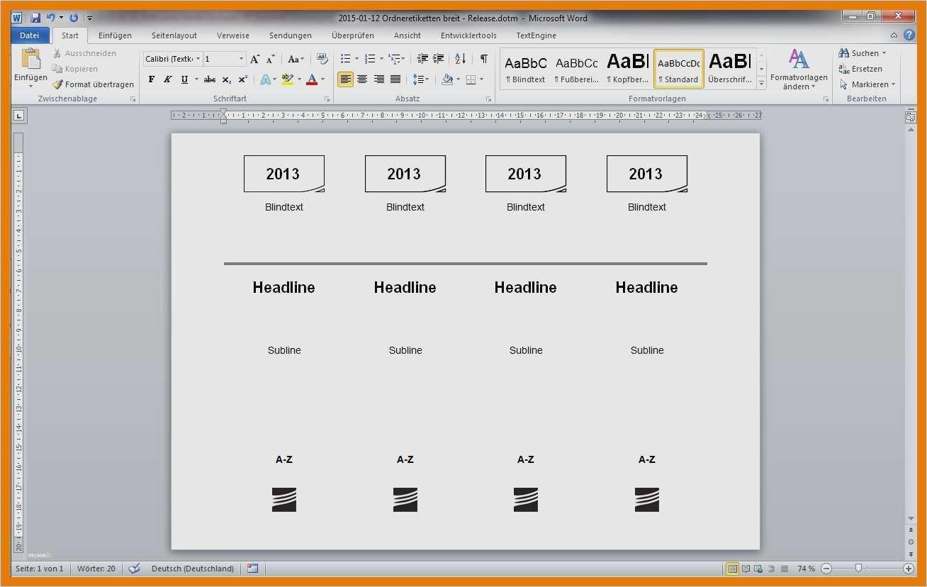 Neu Leitz Ruckenschilder Vorlage Word Download Vorlagen Word