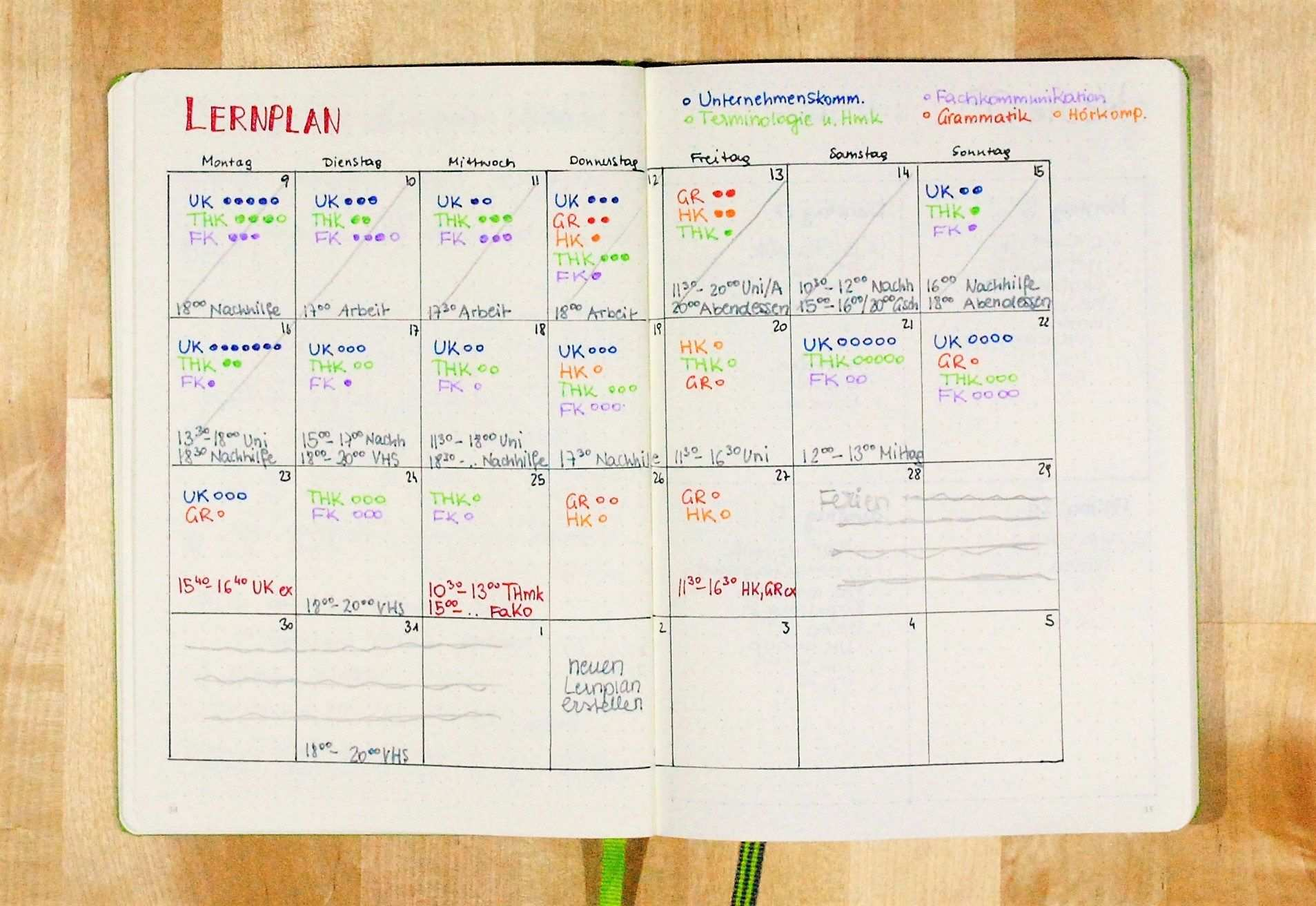 Einen Lernplan Erstellen Lernplan Studieren Tipps Lernen