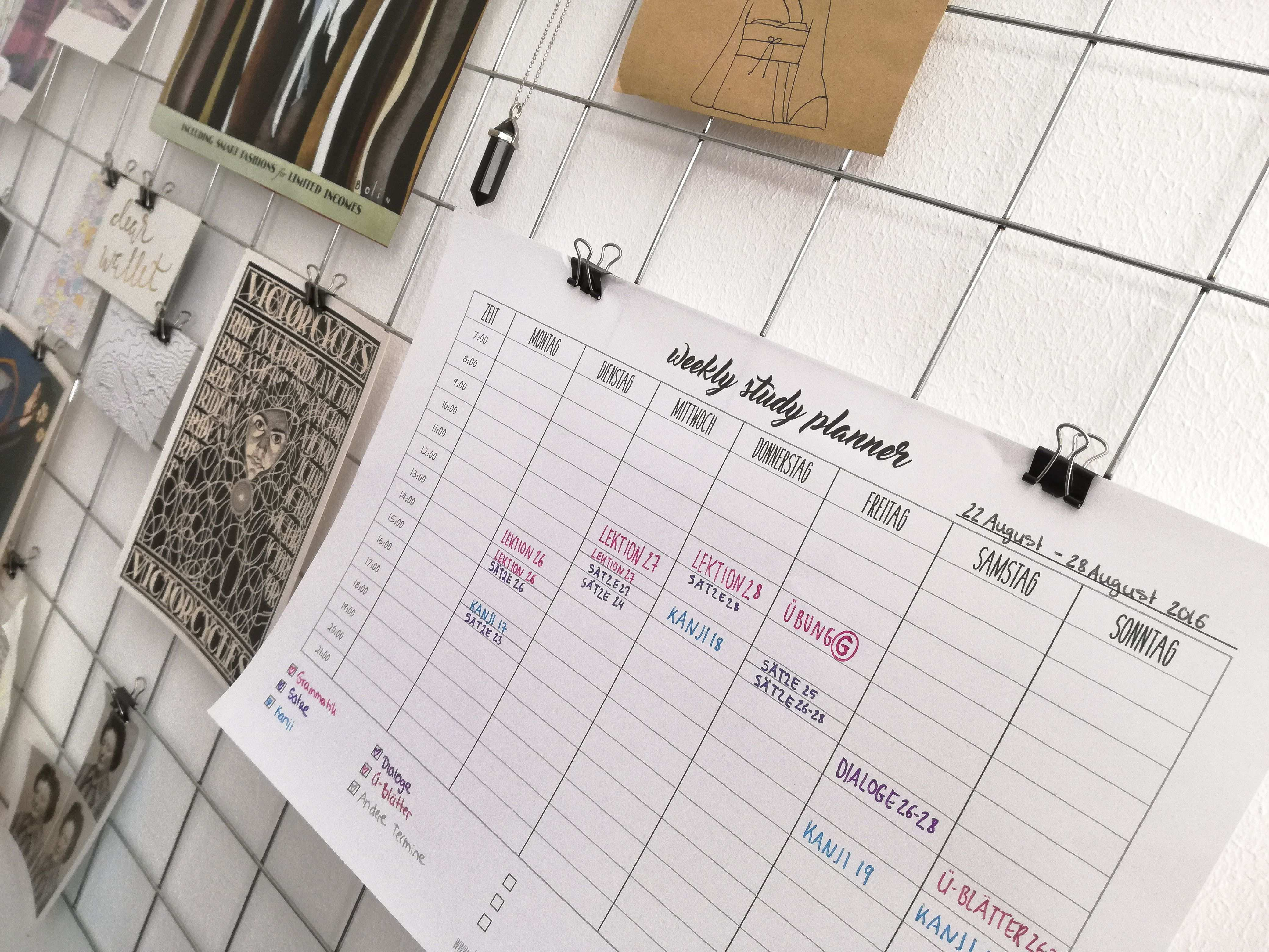 Lernplan Erstellen Entspanntes Lernen Ohne Zeitdruck Lernplan
