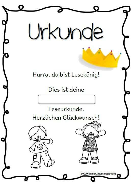 Lesepass Ohne Grundschule Arbeitsblatter Grundschule Lesen